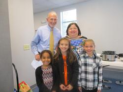 Wednesday Night Kids giving Pastor Walla