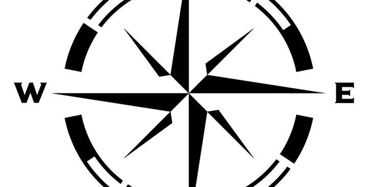 Compass Rose Stencil