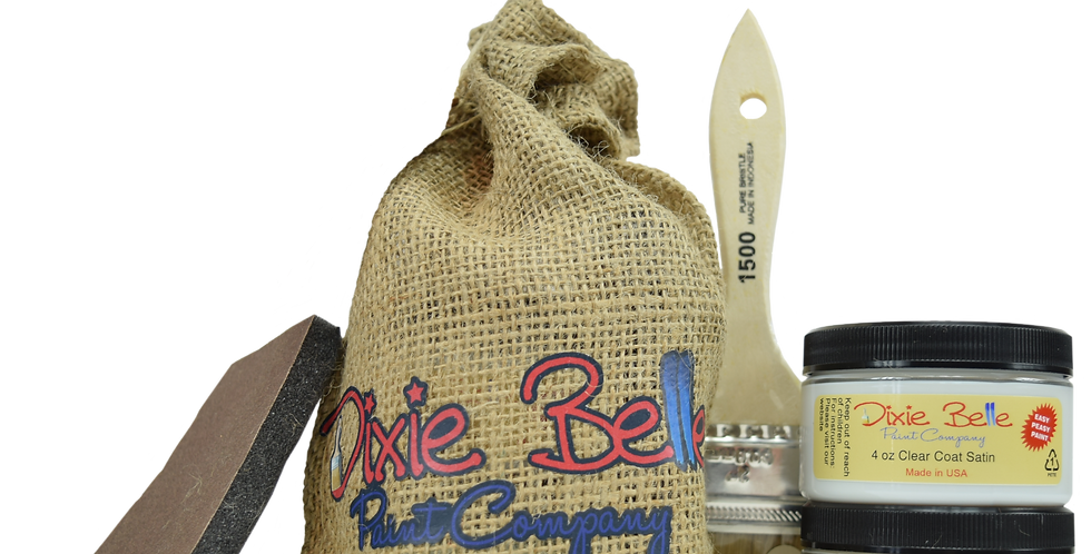 Dixie Belle Paint Gift Bag (Drop Cloth w/clear coat)