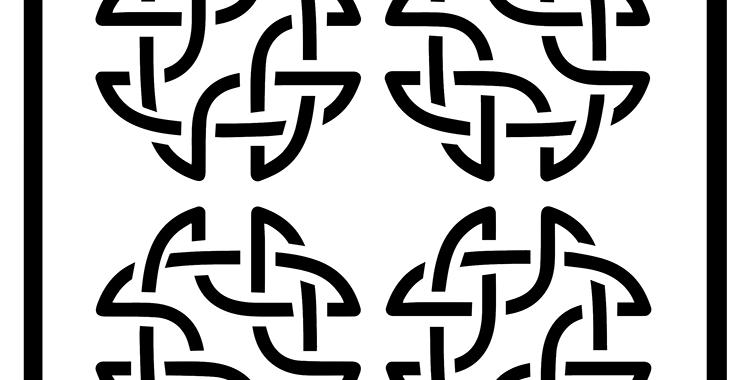 Celtic Squares Stencil