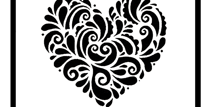 Cut Out Heart Stencil