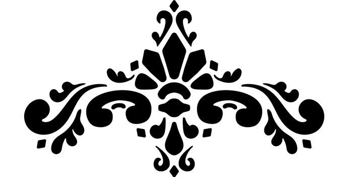 Floral Arch Stencil
