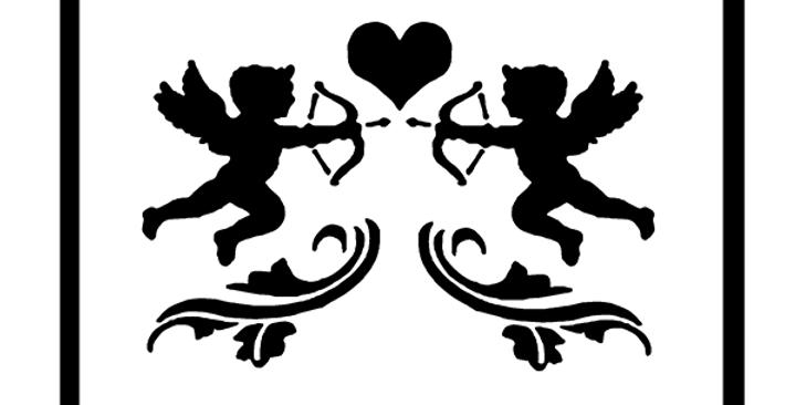 Dual Cupid Stencil
