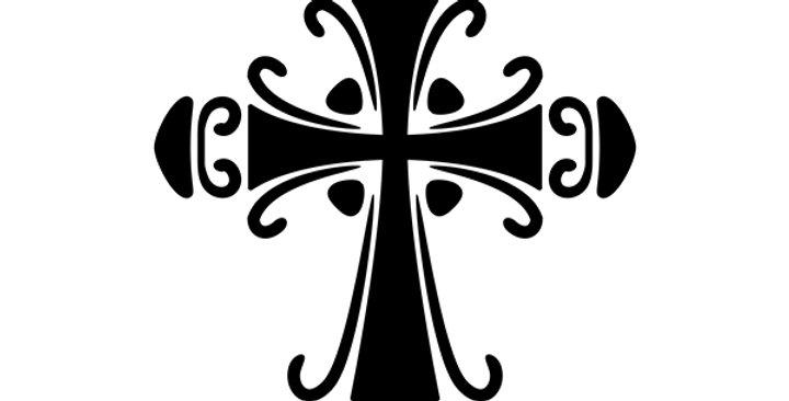 Ornate Cross Stencil