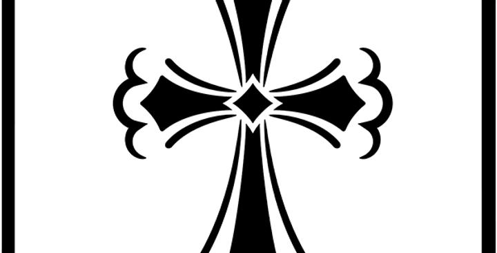 Easter Cross Stencil