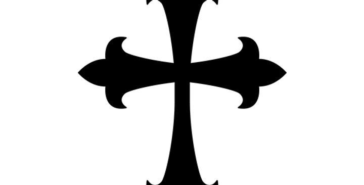 Baroque Cross Stencil