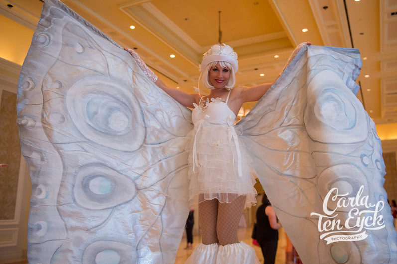 Pzazz Productions Strolling Butterflies White themed events.png