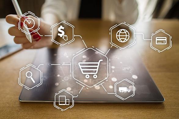 E-commerce. Internet shopping. Online pu