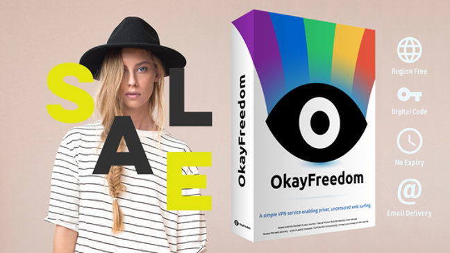 OkayFreedom VPN   Unlimited Traffic   12 Monate Digital Code
