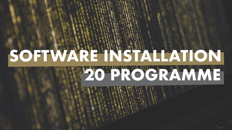 Software Installation bis zu 20 Programme