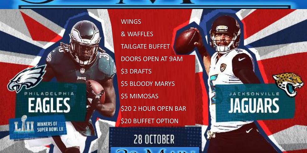 Wings & Waffles Eagles Tailgate Eagles Jaguars London