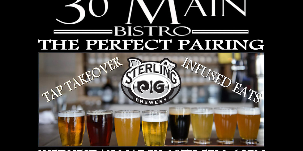 Sterling Pig Tap Takeover and Pairing