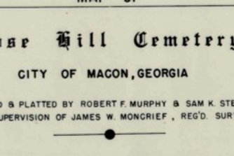1959 City of Macon Rose Hill Cemetery INDEX - Downloadable File