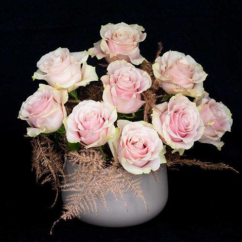 Aranjamente flori - trandafiri roz
