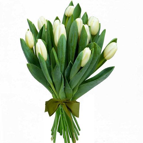 Buchet flori - Lalele albe 11 fire