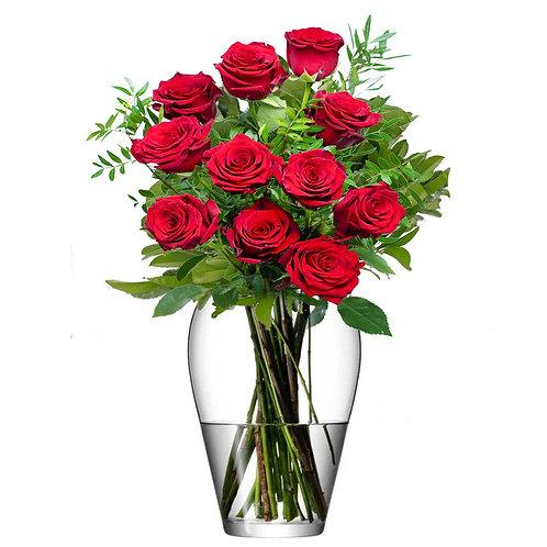 Buchet flori - trandafiri rosii 11 fire