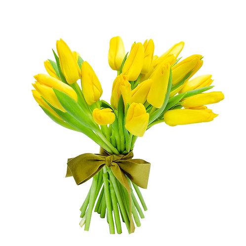 Buchete flori - Lalele galbene 25 fire