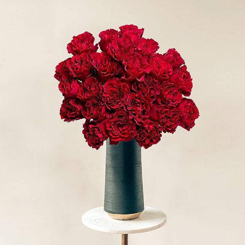 Buchet flori - trandafiri Hearts 25 fire
