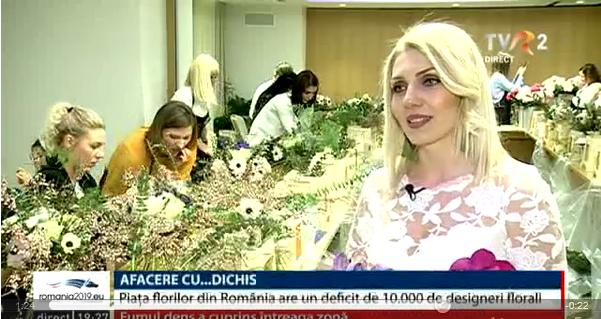 TVR: Afaceri cu...dichis. Piata florilor din Romania are un deficit de 10 mii de designeri florali