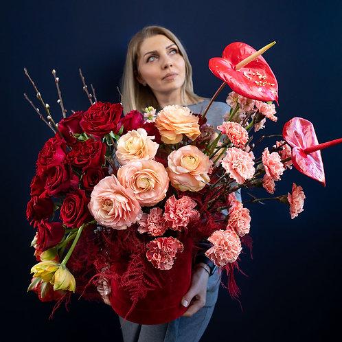 Cutie trandafiri Luxury