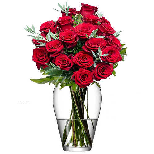 Buchet flori - trandafiri rosii 19 fire
