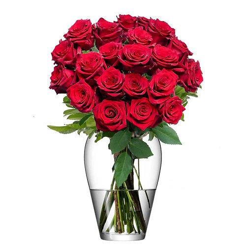 Buchet flori - trandafiri rosii 21 fire