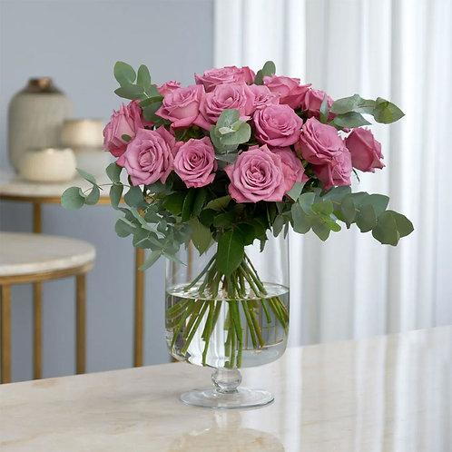 Buchet flori - trandafiri mov 21 fire