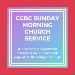 Sunday morning church service