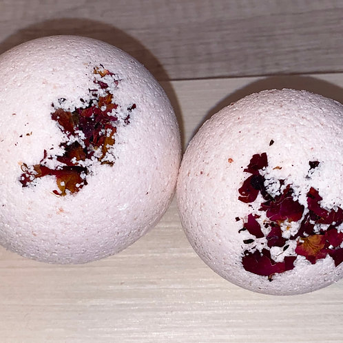 Rose +Almond Oil Bath Bomb