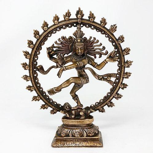 Shiva Escultura Antigua Hecha De Bronce