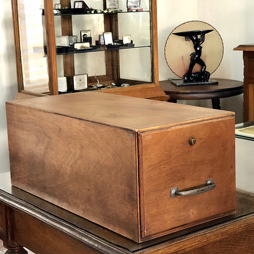 Archivero Antiguo Con Un Cajón Madera de Caoba