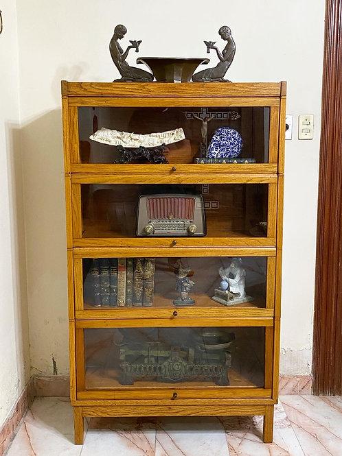 Librero Modular Antiguo en Madera de Encino