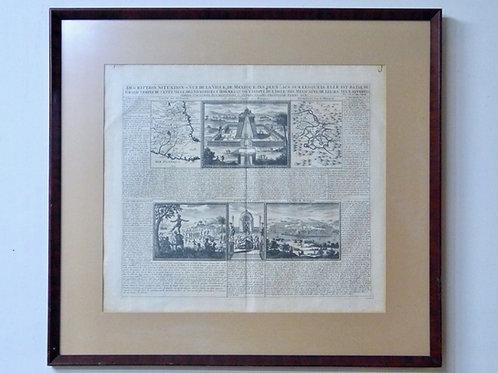 Mapa Antiguo De La Villa De Mexico Por Henri Chatelain 1719