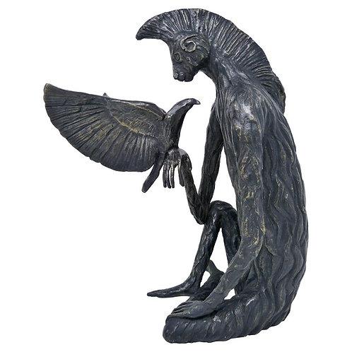 El Nahual del Mono Escultura en Bronce de Leonora Carrington