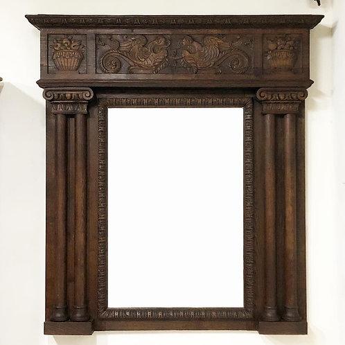 Espejo Antiguo de Encino Estilo Victoriano Origen Inglés S. XIX