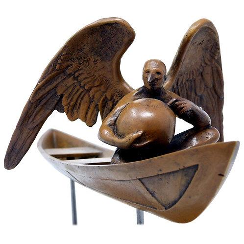 Boceto El Séptimo en Balsa Escultura en Bronce de Jorge Marín