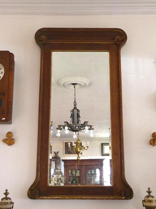 Espejo Antiguo Estilo Art Nouveau Madera de Encino