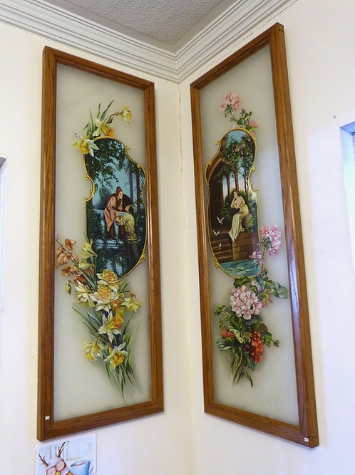 Pintura Antigua en Vidrio Esmerilado L. Felguerez