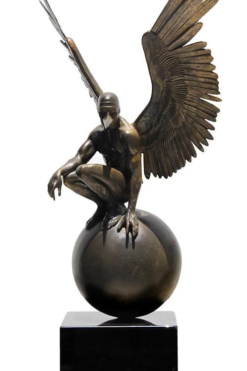 Ángel Persélidas Miniatura Escultura en Bronce de Jorge Marín