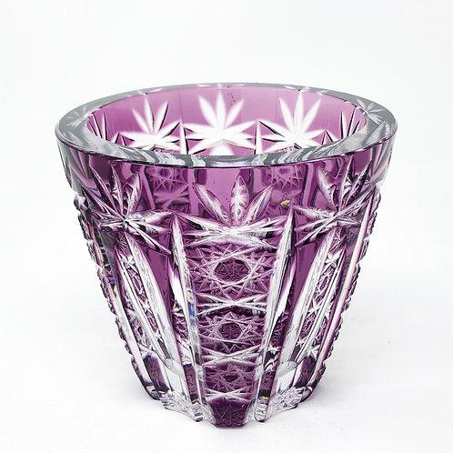Vase Antigua de Cristal de Bohemia Ca.  1950