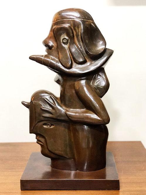 """José Luis Cuevas """"La Escultora"""" Escultura en Bronce 2013"""