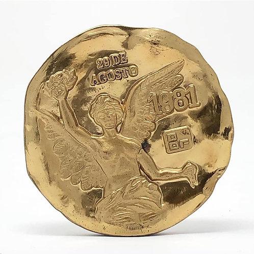 Medalla Conmemorativa Centro Historio Cdmx 1981 Bronce