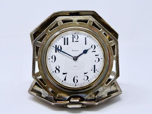 Reloj De Bolsillo Antiguo Marca Octava Porta Reloj De Plata
