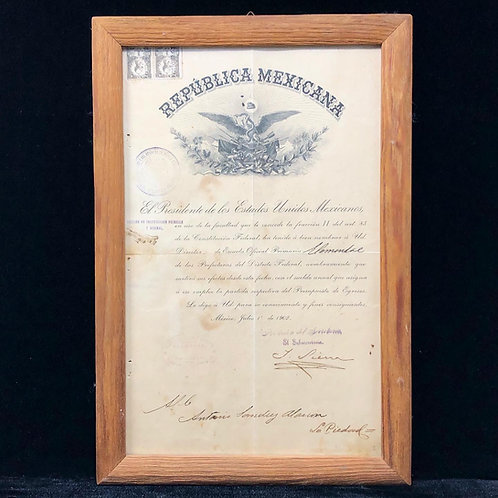 Documento Antiguo Firmado Por Justo Sierra 1902