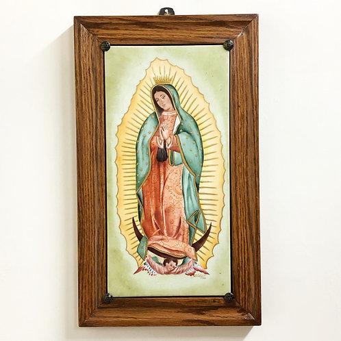Virgen de Guadalupe Pintada en Porcelana