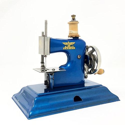 Maquina De Coser Antigua Marca Casige Color Azul Ca. 1930