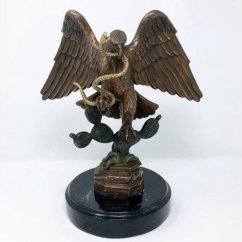 Águila Nacional Mexicana En Bronce Firmada y Numerada