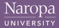 Logo of Naropa University in Boulder, Colorado