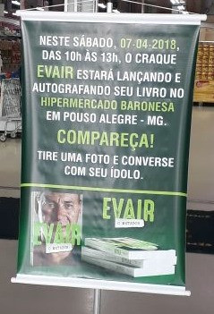 Lançamento do livro do craque Evair