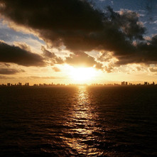 Sunset over Miami, Florida